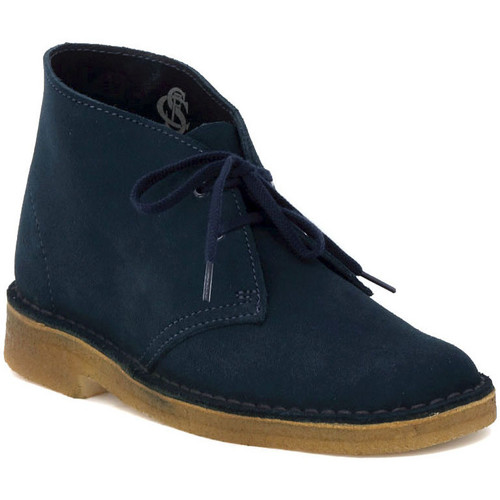 Chaussures Femme Baskets basses Clarks DESERT BOOT W  MIDNIGHT Blu