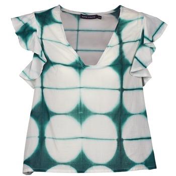 Vêtements Femme T-shirts manches courtes Antik Batik BAB Blanc / Vert
