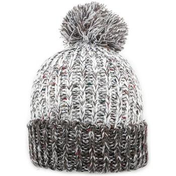 Accessoires textile Homme Bonnets Nyls Création Bonnet à pompon Trek  Gris clair et Gris foncé Gris