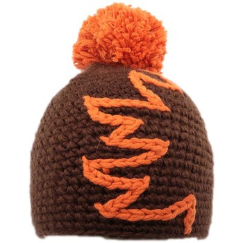 Bonnets Nyls Création Bonnet à pompon Race  Marron et Orange