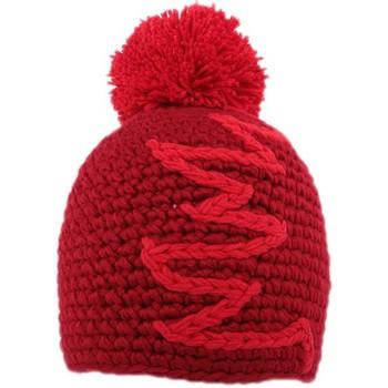 Accessoires textile Homme Bonnets Nyls Création Bonnet à pompon Race  Rouge Rouge