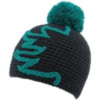 Bonnets Nyls Création Bonnet à pompon Race  Marine et Turquoise