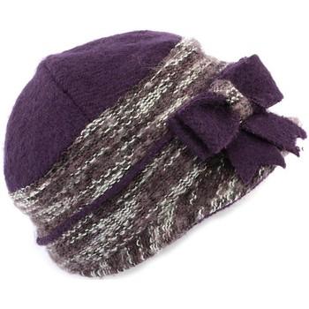 Accessoires textile Femme Chapeaux Léon Montane Chapeau Célia  en laine bouillie Violet Bleu