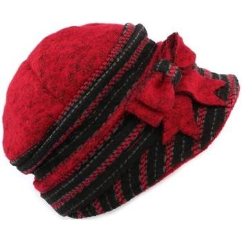 Accessoires textile Femme Chapeaux Léon Montane Chapeau Célia  en laine bouillie Rouge et Noire Rouge