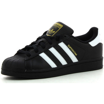 Chaussures Enfant Baskets basses adidas Originals Superstar Foundation Noir