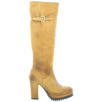 Chaussures Femme Bottes Pao Bottes cuir nubuck Cognac