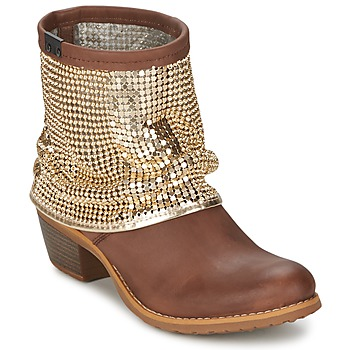 Bottines / Boots Bunker RIA Strass Taupe / Dorée 350x350