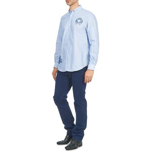Chemises Longues Manches Homme Blanco Antonio Bleu Serge tsdxQrCh