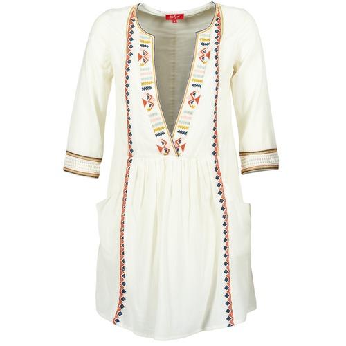 Vêtements Femme Robes courtes Derhy EMBOUCHURE Ecru