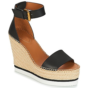 Chaussures Femme Espadrilles See by Chloé GLYN Noir / Blanc