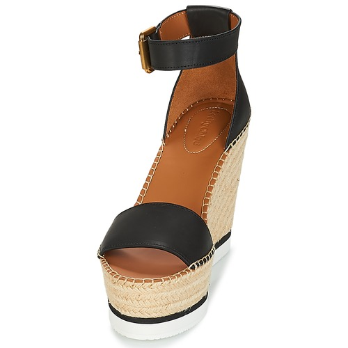 Chloé Espadrilles Sb26152 Chaussures See NoirBlanc Femme By m8N0Ovnw