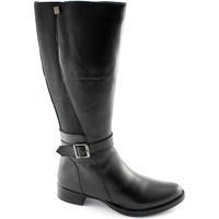 Chaussures Femme Bottes ville Cinzia Soft 2838 femmes chaussures noires en cuir stretch de démarrage Nero