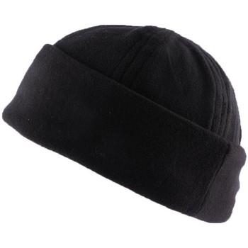 Accessoires textile Bonnets Nyls Création Bonnet Docker Noir en tissu polaire Noir