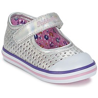 Chaussures Fille Ballerines / babies Pablosky JILENA Argent / Rose