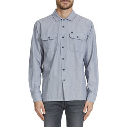 Chemises manches longues Obey Chemise Ml Hillston Worker Front Pockets Gris