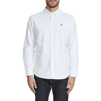 Chemises manches longues Obey Chemise Ml Eighty Nine Oxford  Blanc