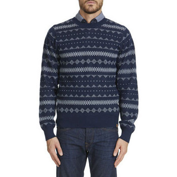 Vêtements Homme Pulls Obey Pull Ml Relaxed Fit Ethnique  Indigo Bleu