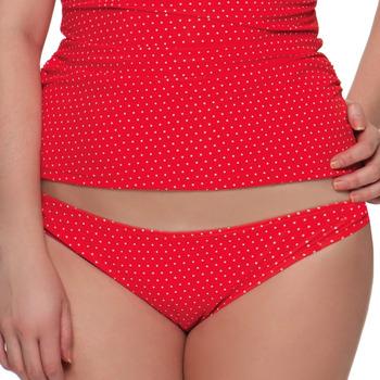 Vêtements Femme Maillots de bain séparables Curvy Kate Bas de maillot de bain à pois Plain Sailing Flame Spot Rouge / Bordeau