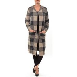 Vêtements Femme Gilets / Cardigans De Fil En Aiguille Cardigan long K100 marron Marron
