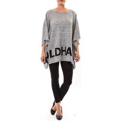 Vêtements Femme Pulls De Fil En Aiguille Poncho DH3122 gris Gris