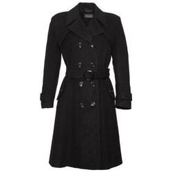 Vêtements Femme Trenchs De La Creme Laine & Cachemire Long Hiver Manteau Ceintue Black