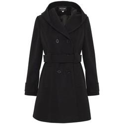 Vêtements Femme Parkas De La Creme Manteau à capuchon d'hiver Black