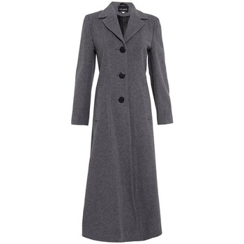 Vêtements Femme Manteaux De La Creme Double manteau long ajusté simple Grey