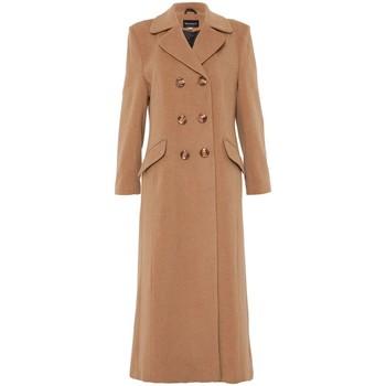 Vêtements Femme Manteaux De La Creme Manteau long ajusté à double boutonnage Beige