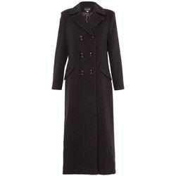 Vêtements Femme Manteaux De La Creme Manteau long ajusté à double boutonnage Grey