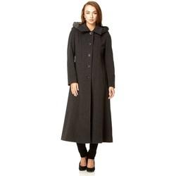 Vêtements Femme Manteaux De La Creme Cachmiere D`Hiver Manteau ave Capouche Grey