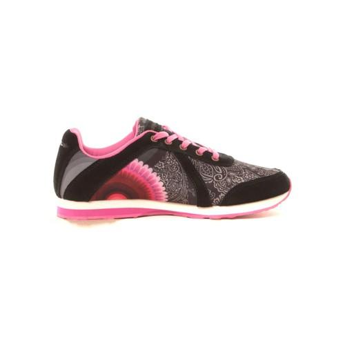 Chaussures Femme Baskets basses Desigual Baskets Damian 57KS1P3 noir et rose Noir