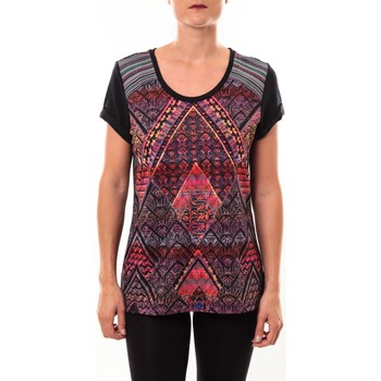 Vêtements Femme T-shirts manches courtes Custo Barcelona Top Luzio Newark multicouleurs Multicolor