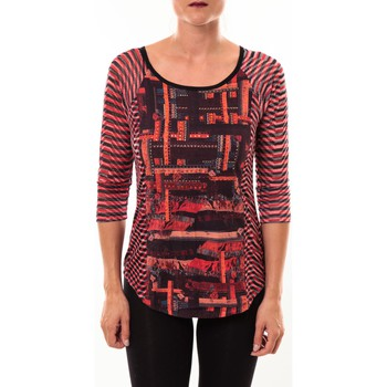 Vêtements Femme T-shirts manches longues Custo Barcelona Top Eleon rouge Rouge