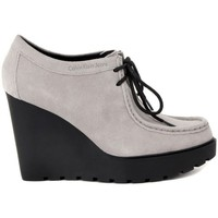 Chaussures Femme Low boots Calvin Klein Jeans SYLVIE WASHED Grigio