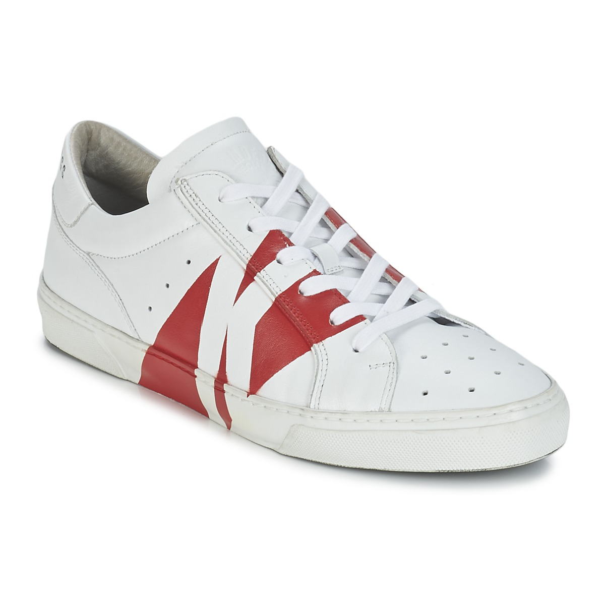 Bikkembergs RUBB-ER 668 LEATHER Blanc / Rouge