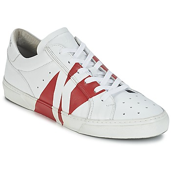 Baskets mode Bikkembergs RUBB-ER 668 LEATHER Blanc / Rouge 350x350