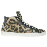 Baskets montantes American College Sneakers Leopard  Cuir Leopard