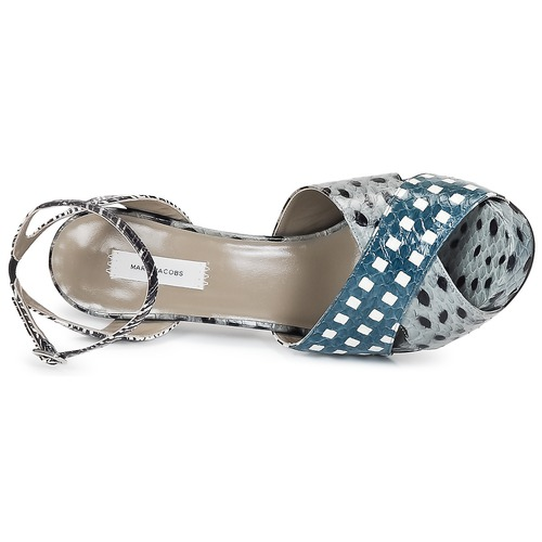 Marc Jacobs Elap Bleu / Blanc - Livraison Gratuite- Chaussures Sandale Femme 50000 Tok9o