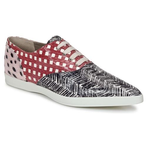 Chaussures Femme Derbies Marc Jacobs Elap Noir / Blanc / Rouge