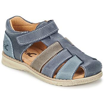 Chaussures Garçon Sandales et Nu-pieds Citrouille et Compagnie FRINOUI Marine / Gris