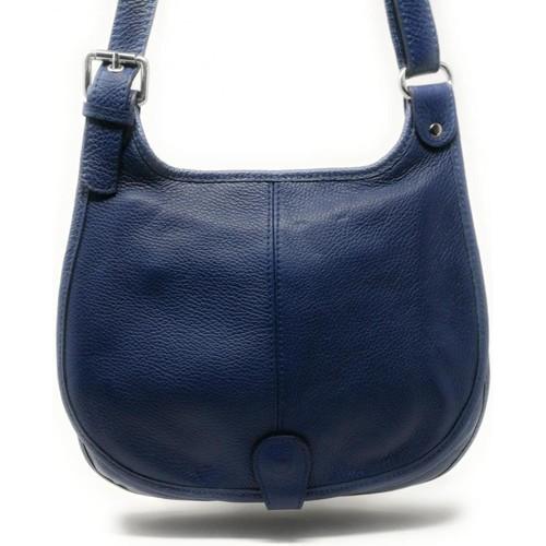 Sacs Femme Sacs porté épaule Oh My Bag Sac à Main CUIR femme - Modèle PETRA (gd modèle) bleu moyen BLEU MOYEN