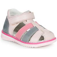 Chaussures Fille Sandales et Nu-pieds Citrouille et Compagnie FRINOUI Rose / Bleu clair / Fuschia