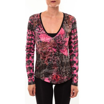T-shirts manches longues Custo Barcelona Top Bambi Luxurious rose