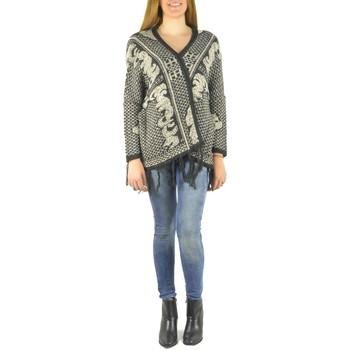 Vêtements Femme Gilets / Cardigans Barcelona Moda Gilet en laine 71171502 noir Noir