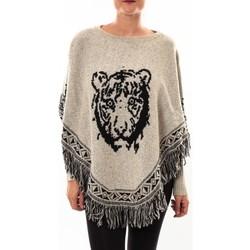 Vêtements Femme Gilets / Cardigans Barcelona Moda Poncho 73017004 gris Gris