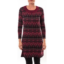 Vêtements Femme Tuniques Barcelona Moda Robe pull 71565011 bordeaux Rouge