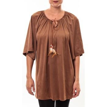 Vêtements Femme Tuniques Nina Rocca Tunique Emilie camel Marron
