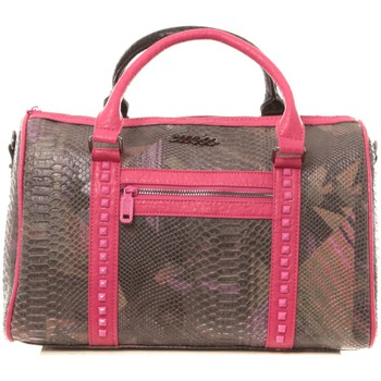Sacs Custo Barcelona Sac Snaky Thicket noir et rose