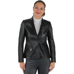 Vêtements Blousons Giorgio Cuirs Veste Giorgio en cuir ref_gio37571-noir noir