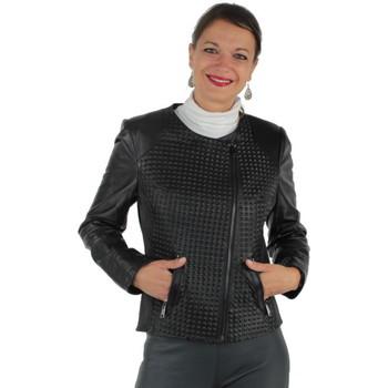 Vêtements Femme Blousons Pallas Cuir Blouson  sélection Atlantic en cuir ref_pst37557-noir noir